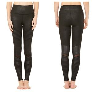 alo yoga high waist moto legging XS